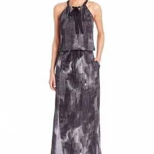 Elie Tahari York Silk Cocktail Maxi Dress